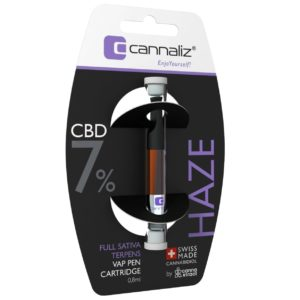 "Cannaliz ""HAZE"" Vape Pen Cartidge 0.8 [ml] 7% CBD"