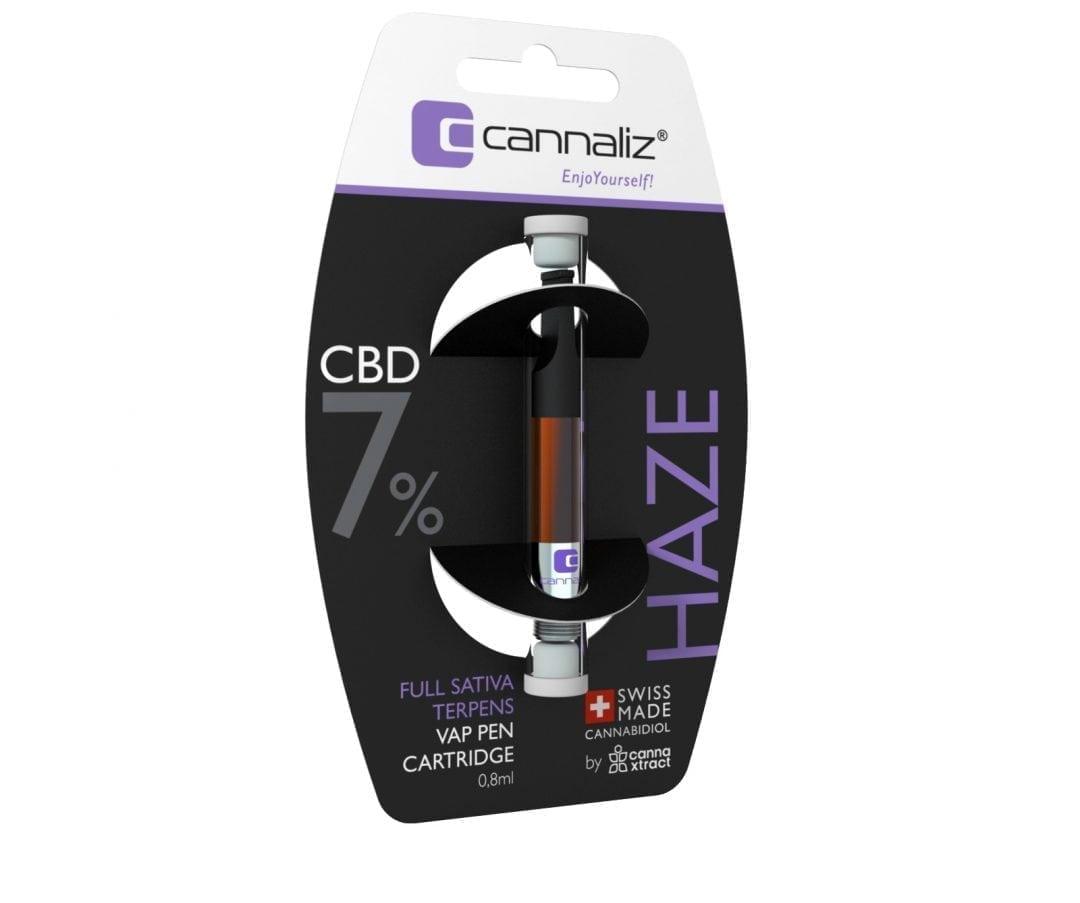 """Cannaliz """"HAZE"""" Vape Pen Cartridge 0.8 [ml] 7% CBD"""