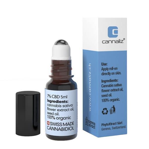 Cannaliz SkinRoll-on 7% CBD (back)