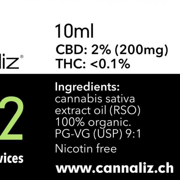 Cannaliz CBD eLiquid 2% CBD
