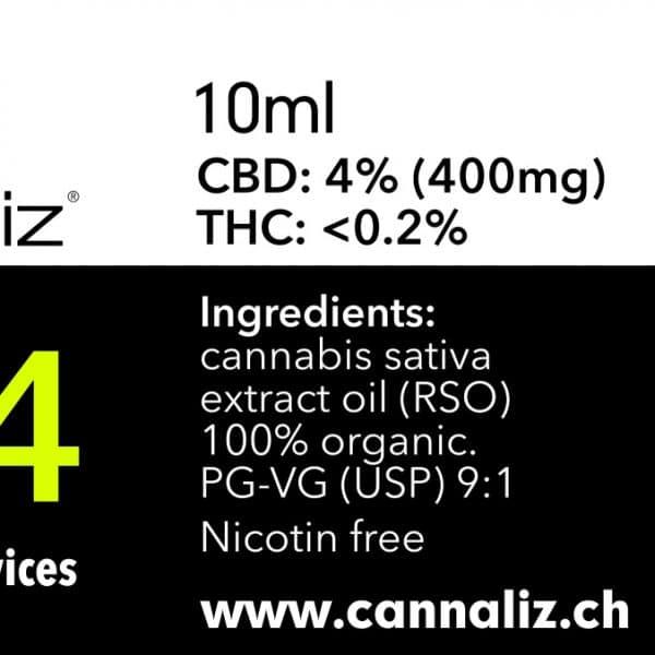 Cannaliz CBD eLiquid 4% CBD